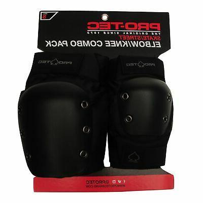 street knee and elbow pads set black