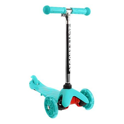 turquoise kick scooter 3 wheel