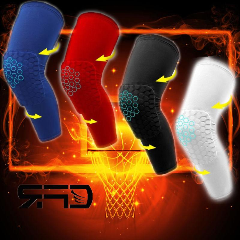 Youth Pad Honeycomb Leg Support Knee Sleeve Braces Sports Su