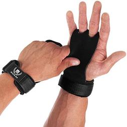 Mava Sports Leather Hand Grips with Wrist Support - Pull Ups