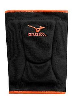 Mizuno LR6 Highlighter Kneepad, Black/Blazing Orange - Mediu