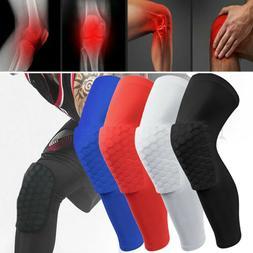 Men/Kids Knee Pad Basketball Crashproof Antislip Leg Long Sl