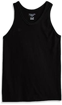 Champion Men's Classic Jersey Ringer Tank Top, Black, M
