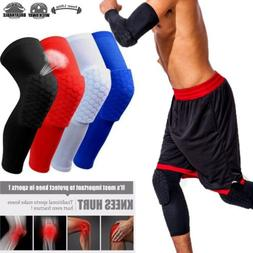 Men Sports Knee Pads Breathable Honeycomb Long Knee Support