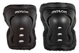 KaZAM Kids Multi-Sport Knee and Elbow Pad Set, Black