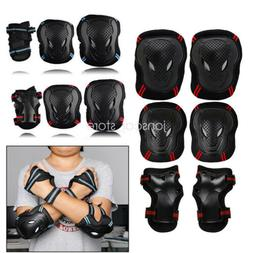 New 6pcs Skating Protective Gear Sets Elbow Knee Pads Bike S
