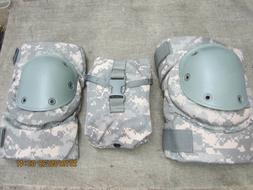NEW  Bijan Knee Pads & IFAK Pouch ACU UNIVERSAL CAMO LARGE