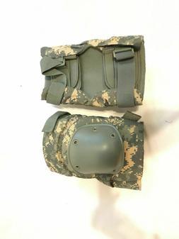 LARGE NEW  US Military Knee Pads ACU UNIVERSAL CAMO LARGE NE