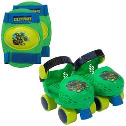 Nickoledeon Kid's Rollerskates with Knee Pads Adjustable Pla