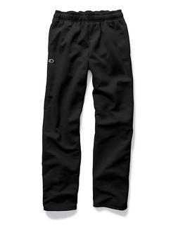 Champion Men's Powerblend Sweats Open Bottom Pants Black L