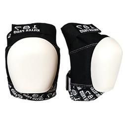 187 Killer Pads - Pro Knee Pads black / white caps - Skatebo
