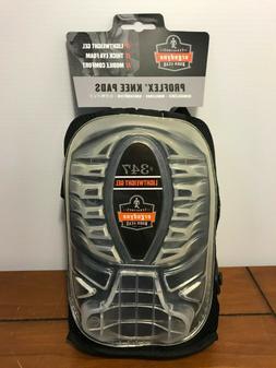 Ergodyne ProFlex 347 Long Cap Lightweight Gel Knee Pads, Bla