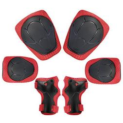 KUYOU Child Kids Protective Gear Set,Knee and Elbow Pads wit