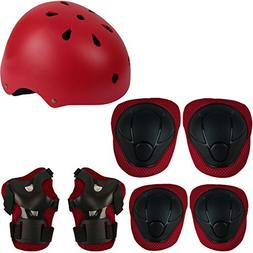 Herbalcandybox Kid's Protective Gear Set with Wrist Guard Kn