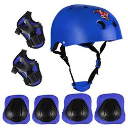 AODIChild Multi-Sport Helmet With Knee Pads Elbow Wrist Prot