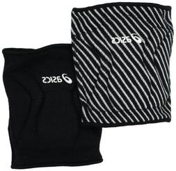 ASICS Replay Reversible Knee Pad, One Size Fits All, Black/W