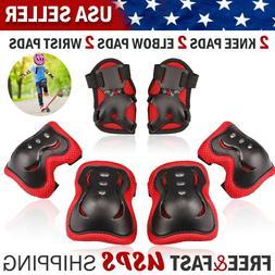 Kid's Roller Blading Wrist Elbow Knee Pads Blades Guard 6 PC