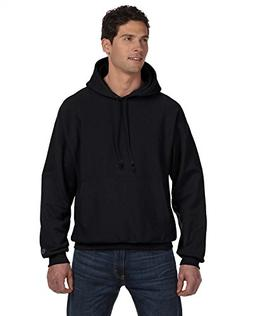 S1051 Champion 12oz. Reverse Weave Hooded Pullover, Black, 2