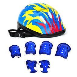 7Pcs Kids Sports Safety Protective Gear Set, RuiyiF Elbow Pa