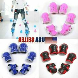 Set of 6 Children Elbow Wrist Knee Pads Sport Safety Protect