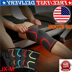 sports knee support pad high compression silicone