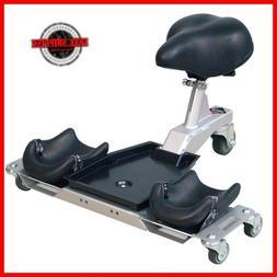 Rubi SR1 Knee Pads and Ergonomic Seat Adjustable Seat Optima