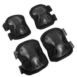 Tactical Elbow and Knee Pads Set, Non-Slip Waterproof Lightw