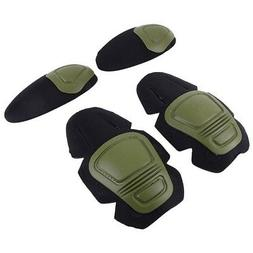 Tactical Knee Elbow Protector Pad Suit 2 Knee Pads & 2 Elbow