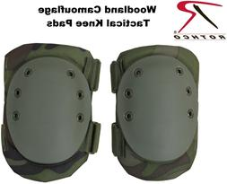 Tactical Knee Pads - Multi-purpose Protective, Woodland Camo
