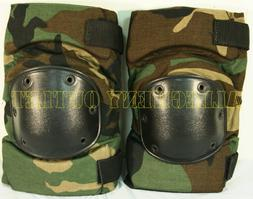 US Military Tactical Protective KNEE PADS Woodland Paintball