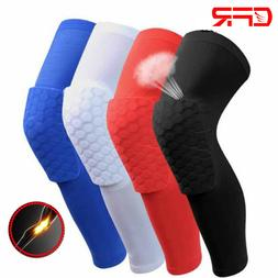 Youth Adults Honeycomb Pad Knee Support Basketball Long Leg