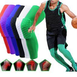 Youth Pad Honeycomb Basketball Leg Support Knee Long Sleeve