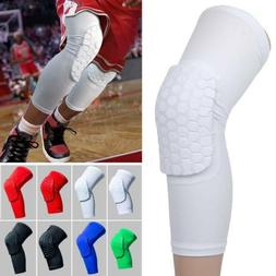 Youth Pad Honeycomb Knee Support Long Leg Sleeve Brace Prote