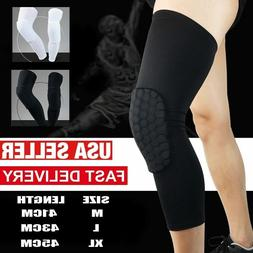 Youth Pad Honeycomb Leg Support Knee Sleeve Brace Sports Sup